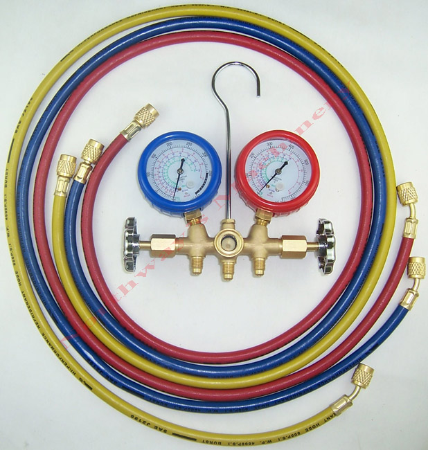 LX1002B R410A Manifold Gauges with 60 inch Hoses HVAC Tools